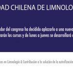 Nuevas Fechas para la XV versión del Congreso de la Sociedad Chilena de Limnología